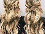 Half Up Romantic Hairstyles Beautiful Braid Half Up and Half Down Hairstyle for Romantic Brides
