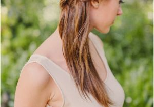 Half Up Straight Hairstyles for Weddings Straight Half Up Wedding Hair with Braid