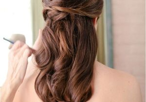Half Up Straight Hairstyles for Weddings Unique Creative and Gorgeous Wedding Hairstyles for Long