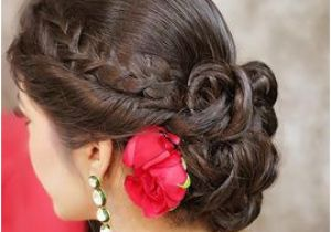 Half Updo Hairstyles for Saree Braided Bun Hairstyle Hair Styles