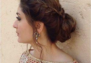 Half Updo Hairstyles for Saree Bun It Up Like Kareena Kareena Pinterest