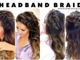 Half Updo Hairstyles with Braids 7 Headband Braid Hairstyles Braided Half Updo Hair Tutorial