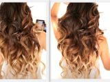 Half Updo Hairstyles Youtube ☆ Big Fat Voluminous Curls Hairstyle How to soft Curl