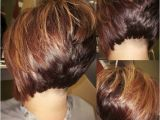 High Bob Haircut Undercut Stacked Bob with High Lights and Low Lights