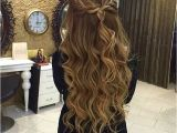 Homecoming Hairstyles Half Up Straight Braided Half Updo Hairstyles In 2018 Pinterest