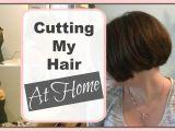 How to Cut A Bob Haircut at Home How I Cut My A Line Bob at Home