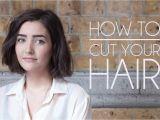 How to Cut A Bob Haircut at Home How to Cut Your Own Hair Short Hair Bob