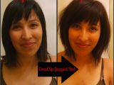 How to Cut A Bob Haircut Yourself Diy Long Textured Bob Using the Creaclip