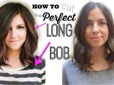 "How to Cut A Bob Haircut Yourself How to Cut the Perfect Long Bob ""lob Haircut"""