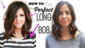 "How to Cut A Long Bob Haircut Yourself How to Cut the Perfect Long Bob ""lob Haircut"""