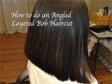 How to Cut An Angled Bob Haircut Layered Angled Bob Haircut Locks Of Love Hair Tutorial