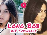 How to Cut Bob Haircut Yourself How to Cut Your Own Hair Long Bob Diy Tutorials
