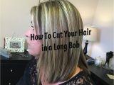 How to Cut Your Own Bob Haircut Diy Long Bob Haircut Tutorial How to Cut Your Own Hair In