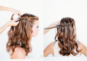 How to Do A Wedding Hairstyle How to Do Waterfall Braid Wedding Hairstyle Long Hairs