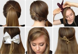 How to Do An Easy Hairstyle Step by Step S Of Elegant Bow Hairstyles Hairzstyle