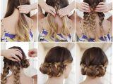 How to Do Cute Hairstyles On Yourself Creative Ideas Diy Easy Braided Updo Hairstyle