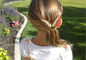 How to Do Cute Little Girl Hairstyles Cute Twistback Flip Under Girls Hairstyles