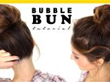 How to Do Easy Bun Hairstyles 2 Minute Bubble Bun Hairstyle