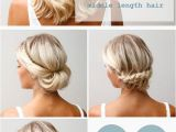 How to Do Easy Hairstyles for Medium Length Hair 16 Pretty and Chic Updos for Medium Length Hair Pretty