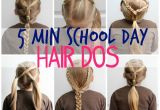 How to Do Easy Hairstyles for School 5 Minute School Day Hair Styles Fynes Designs