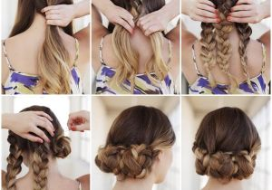 How to Do Easy Hairstyles On Yourself Creative Ideas Diy Easy Braided Updo Hairstyle