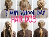 How to Do Quick and Easy Hairstyles for School 5 Minute School Day Hair Styles Fynes Designs