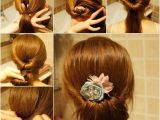 How to Make Easy Hairstyles at Home Diy Easy Twisted Hair Bun Hairstyle