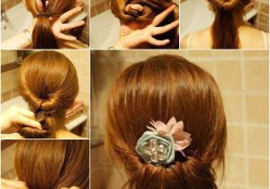 How to Make Easy Hairstyles for Medium Hair Diy Easy Twisted Hair Bun Hairstyle
