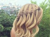 How to Make Waterfall Braid Hairstyle Day 215 Waterfall Braid H A I R Pinterest