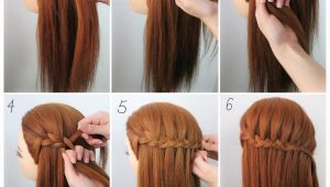 How to Make Waterfall Braid Hairstyle Three Strand Waterfall Braids❤ Check Out the Steps Below 1