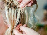 How to Make Waterfall Braid Hairstyle Waterfall Braid Plait Hair Tutorial fordham Hair Design