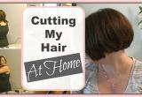 How to Style A Bob Haircut at Home How I Cut My A Line Bob at Home