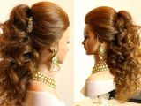 Indian Hairstyles for Medium Curly Hair Indian Bridal Hairstyles Curly Hair
