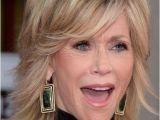 Jane Fonda Medium Hairstyles Jane Fonda Fluffy Medium Wavy Human Hair Capless Wigs 12 Inches