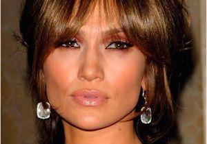 Jennifer Lopez Bob Hairstyles Jennifer Lopez Brunette Updo with Bangs Hairstyles