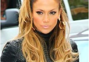 Jennifer Lopez Short Hairstyles 2019 Jennifer Lopez S Half Ponytail Hair In 2019 Pinterest