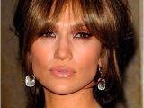 Jlo Bangs Hairstyle Jennifer Lopez In 2019 Hairstyles