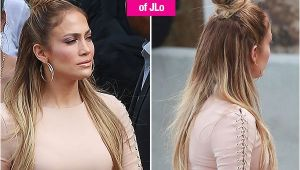 Jlo Hairstyles Half Up Half Down Jennifer Lopez S Half Up Half Down Hairstyle Idol — Trend to