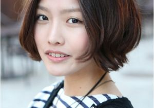 Korean Bob Haircut Korean Hairstyle 2013 Pretty Center Parted Bob Haircut