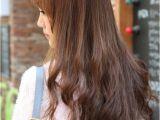 Korean Curly Hairstyles for Long Hair Back View Of Korean Long Hairstyle Haircut Ideas