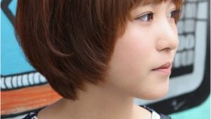 Korean Hairstyle Girl Short Hair Sweet Layered Short Korean Hairstyle Side View Of Cute Bob Cut In
