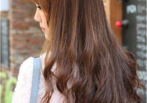 Korean Long Hair with Bangs Back View Of Korean Long Hairstyle Haircut Ideas