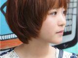 Korean Short Hair with Bangs Sweet Layered Short Korean Hairstyle Side View Of Cute Bob Cut In