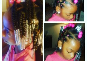 Little Black Girls Hairstyles for School Simple Hair Styles for Little Black Girls Braids Beads and
