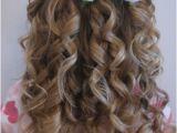 Little Girl Hairstyles Half Up Half Down Cute Little Girl Curly Back View Hairstyles Prom Hairstyles