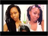Loc Hairstyles On Youtube 5 Month No Retwist Update & Style Faux Bob