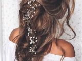 Long Hair Flower Girl Hairstyles Pulled Back Loose Waves Lovely Long Wedding Hairstyle We This