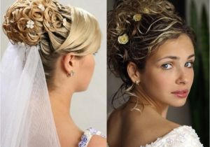 Long Hair with Veils Wedding Hairstyles Stylish Hairstyle with Long and Short Hairs with Veil for