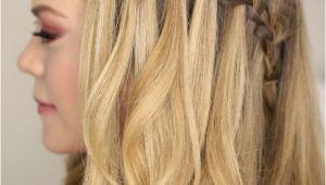 Loop Waterfall Braid L Cute Hairstyles Tutorial Waterfall Braid Half Updo Hairstyles