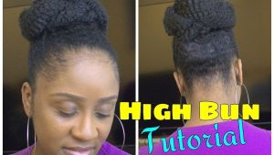 Marley Braid Bun Hairstyles Easy Marley Braid High Bun Natural Hair Tutorial